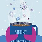 Christmas Card: Snowy Cocoa by blue4ster