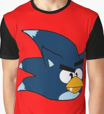 Angry Werehog Bird Graphic T-Shirt