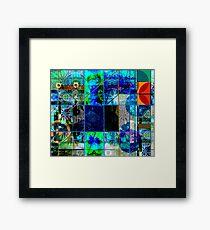 BLUE GENESIS 555 Framed Print