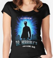 Dr. Horribles sing-along blog  Women's Fitted Scoop T-Shirt