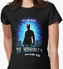 Dr. Horribles sing-along blog  Women's Fitted T-Shirt