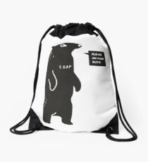 Rub Me On Your Butt Drawstring Bag
