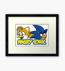 Angry Sonic  Framed Print