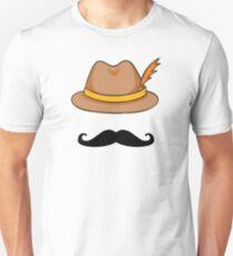 Oktoberfest Beer Festival German Hat Mustache  Unisex T-Shirt