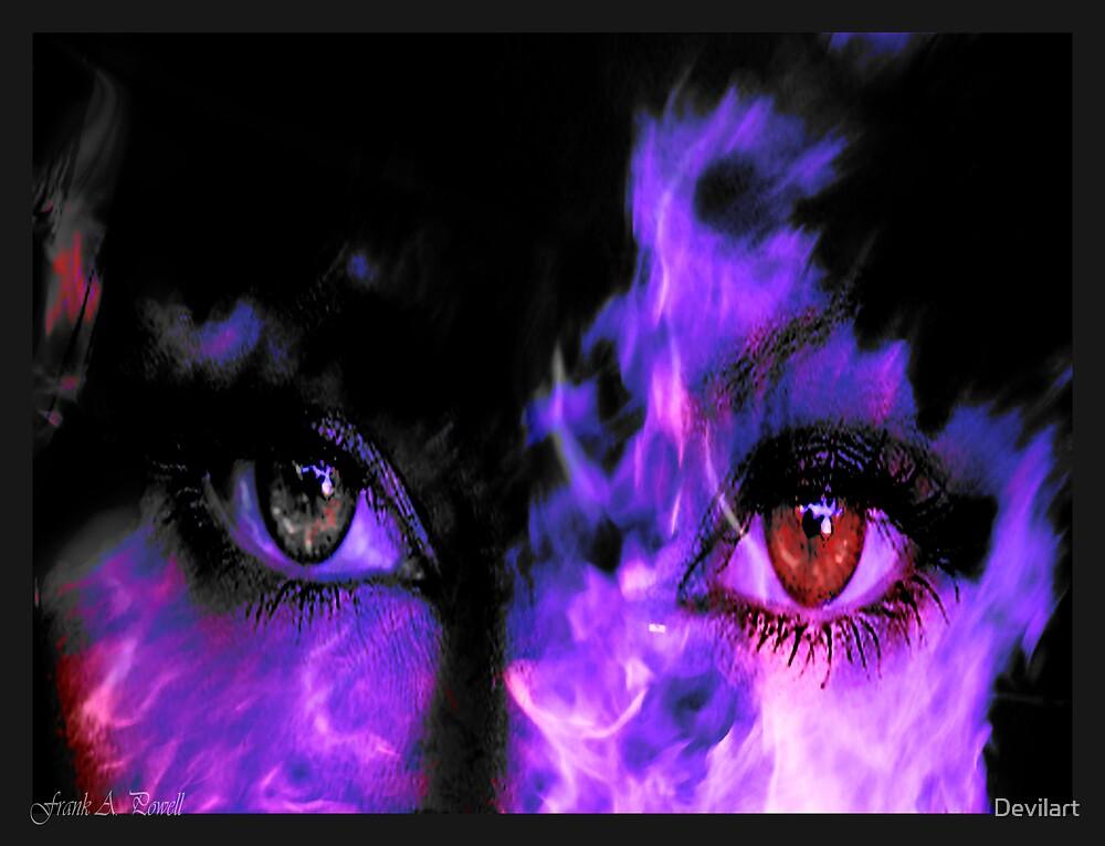 Burning moment in Blue by Devilart