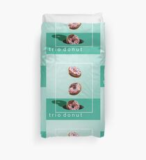 trio donut clock and tshirt Duvet Cover