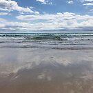 Beach reflections  by Annie Smit