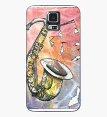 Saxophone Notes Case/Skin for Samsung Galaxy
