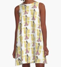 The Belle Of The Mardi Gras (Mellow Yellow Version) A-Line Dress