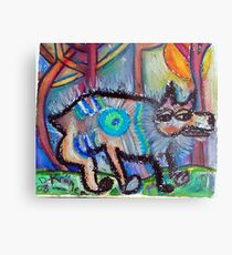 Hippie Dog Metal Print