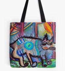 Hippie Dog Tote Bag