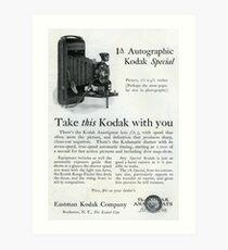 1920s Kodak Autographic Art Print
