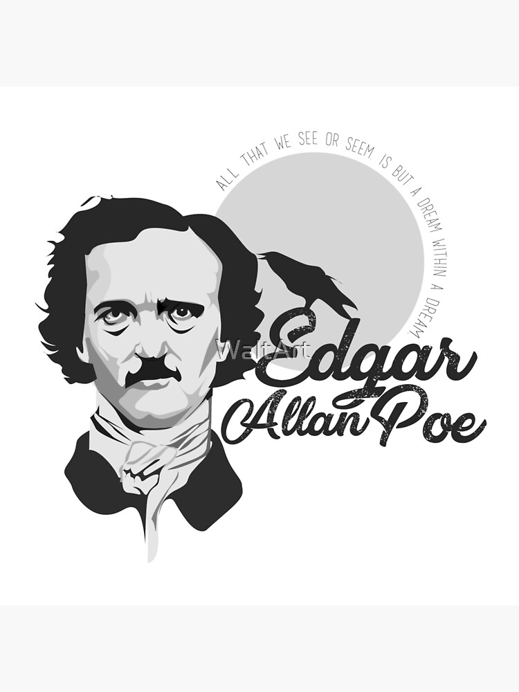 Mens Edgar Allan Poe Nevermore Lounge Diner Shirt Gothic Crow Birdcage Quill