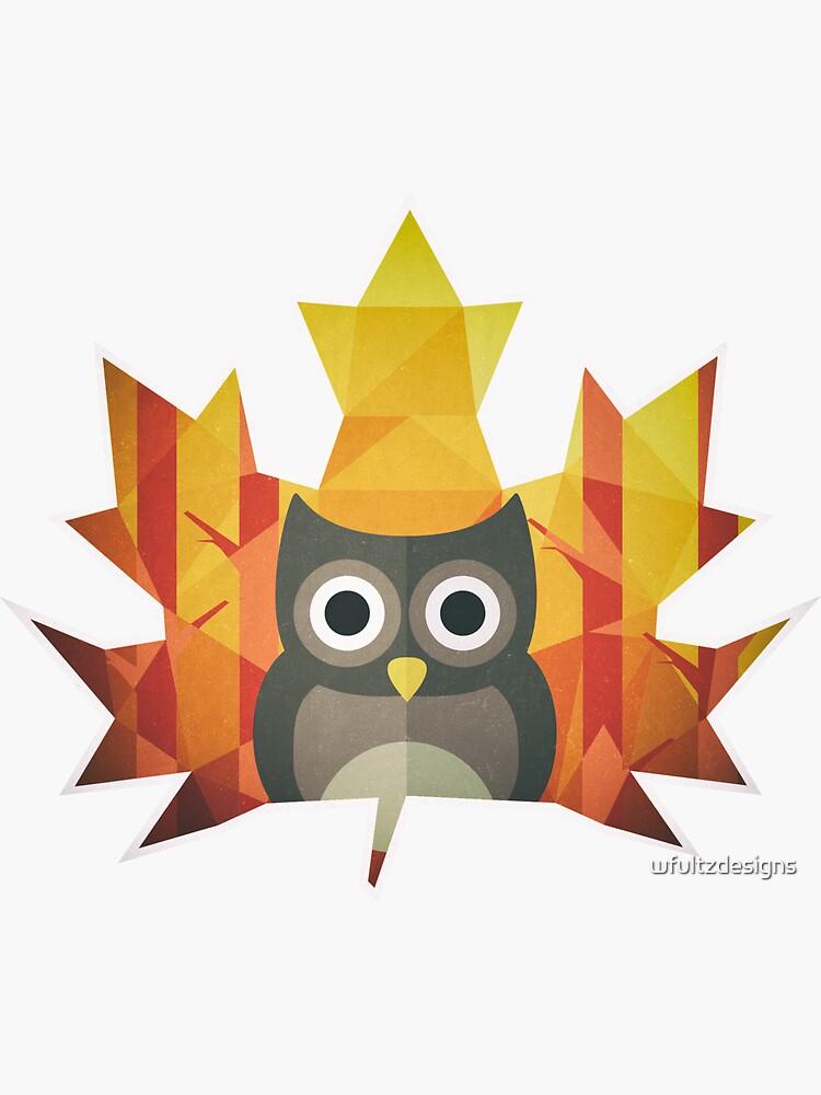 Polygon Owl Leaf by wfultzdesigns