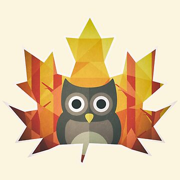 Polygon Owl Leaf by wfultzdesigns