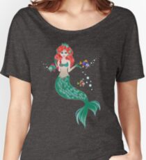 Red Haired Mermaid Women's Relaxed Fit T-Shirt