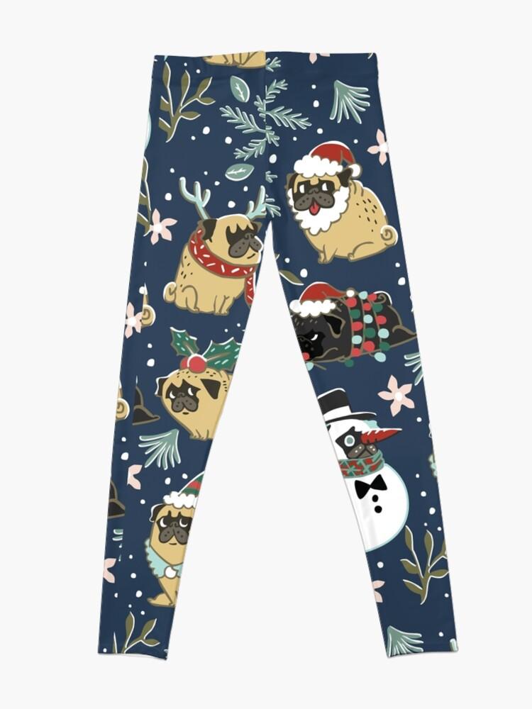 Alternative Ansicht von Weihnachtspugs Leggings