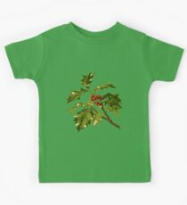 Holly Christmas Red Berry Kids Clothes