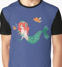 Red Haired Mermaid 2 Graphic T-Shirt