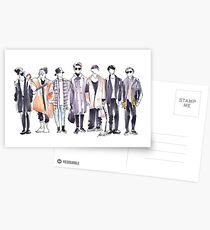 Postales BTS Airport Fashion 171113