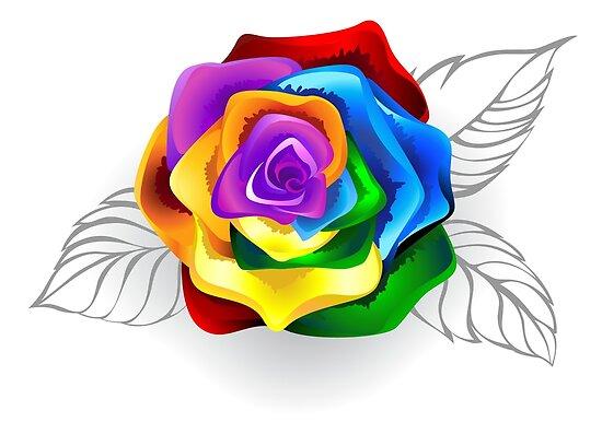 a1b7f214edd405 Rainbow rose bud ( Rainbow roses )