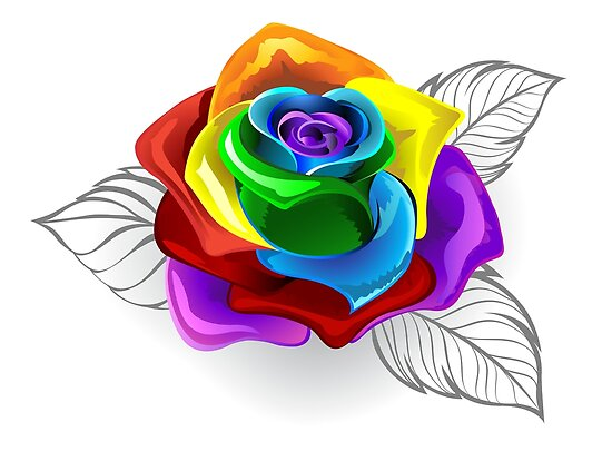 Image result for rainbow rose