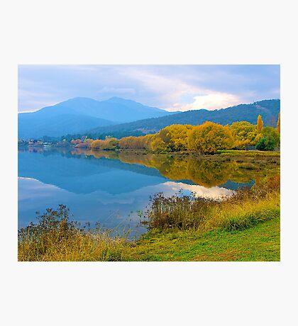Autumn, Pondage, Mt Beauty, Victoria. Photographic Print