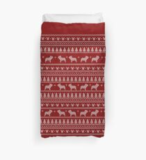 Ugly Christmas sweater dog edition - French bulldog 2 Duvet Cover