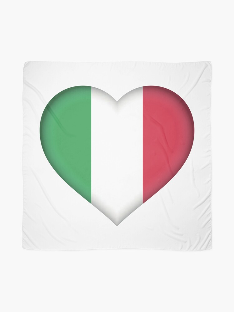 Alternate view of Italy Flag Scarf
