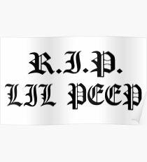 RIP LIL PEEP 1996 - 2017 Poster