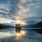 Last light Loch Tay, Perthshire Scotland by Cliff Williams