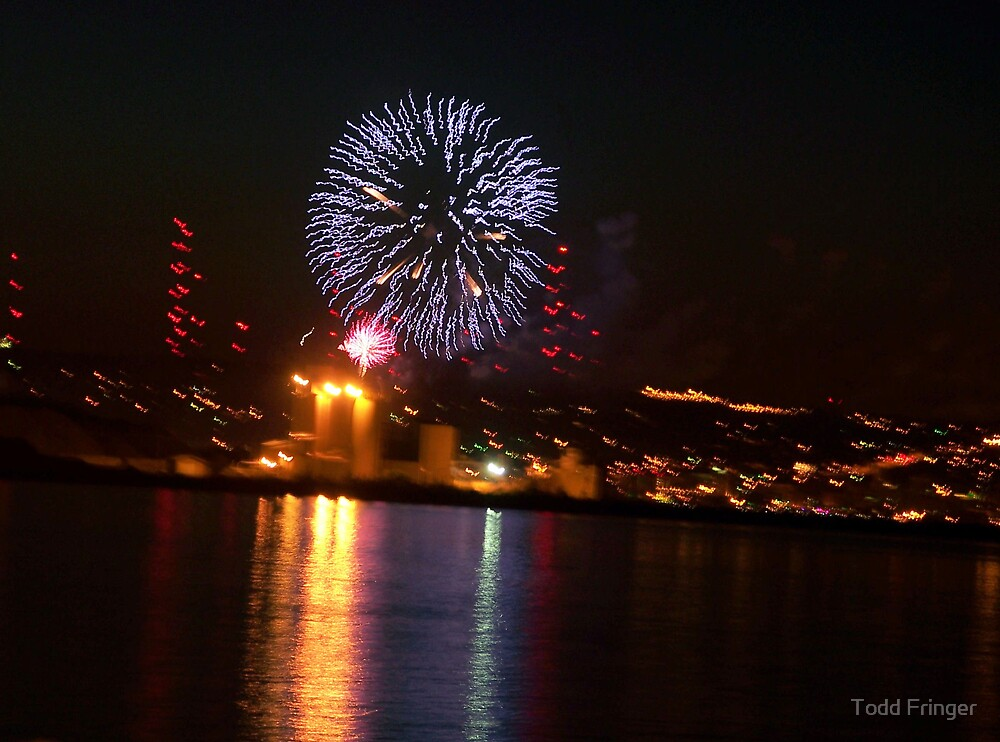 fireworks over harbor    by Todd Fringer