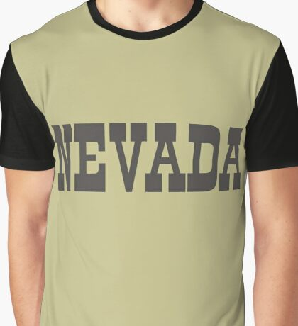 States Of Nevada Western Style  Graphic T-Shirt