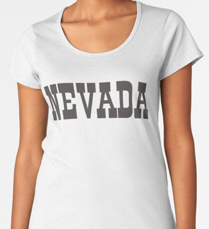 States Of Nevada Western Style  Premium Scoop T-Shirt