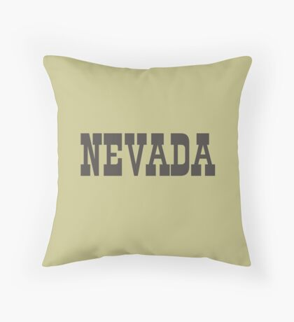 States Of Nevada Western Style  Throw Pillow