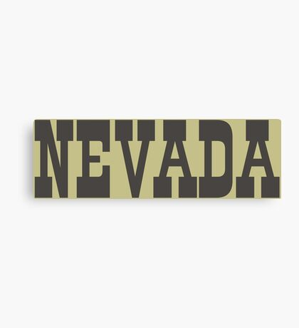 States Of Nevada Western Style  Canvas Print