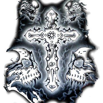 Cross and Skulls (Heavy Metal) by AnderArtes
