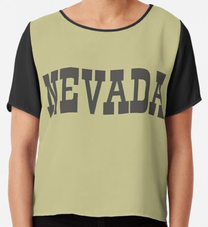 States Of Nevada Western Style  Chiffon Top