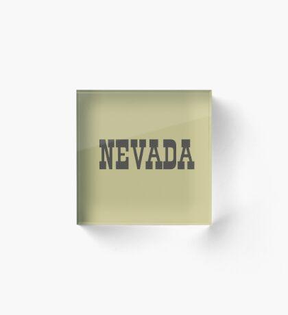 States Of Nevada Western Style  Acrylic Block
