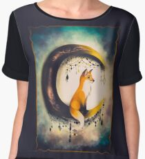 Moon and fox? Women's Chiffon Top