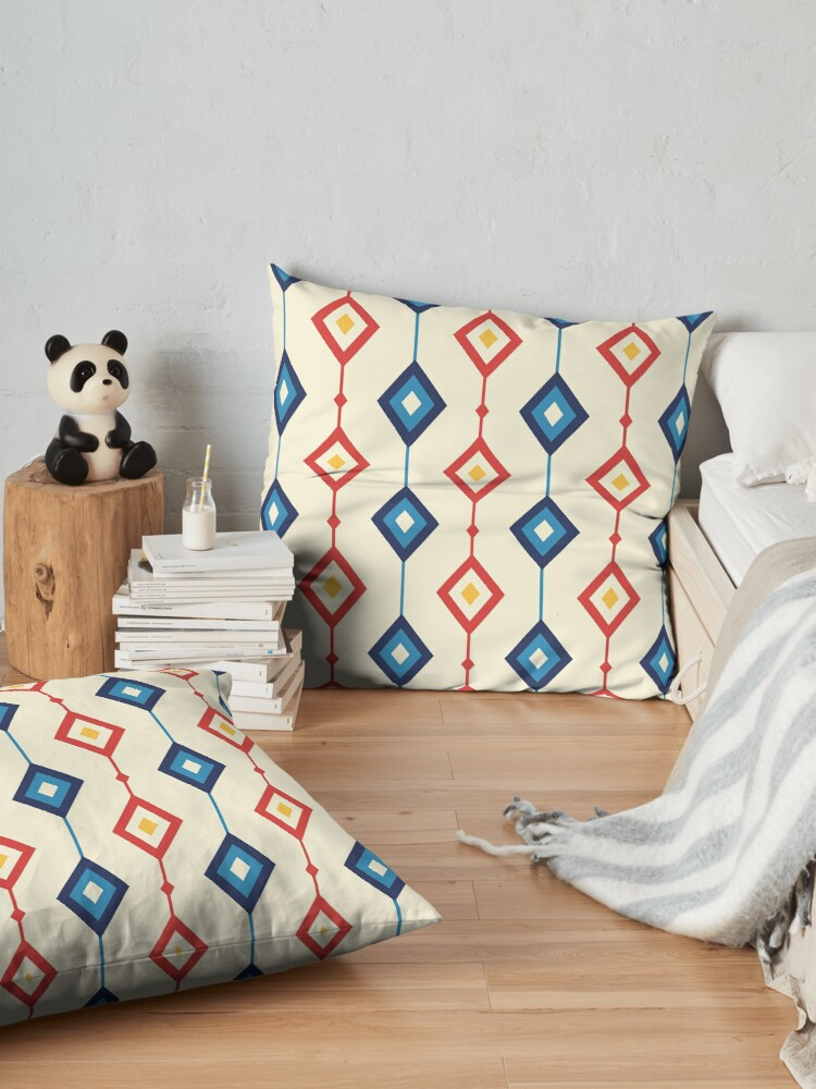 Alternate view of Geometric Shapes 01 Floor Pillow