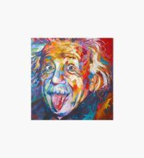 Einstein - Poking out Tongue Art Board