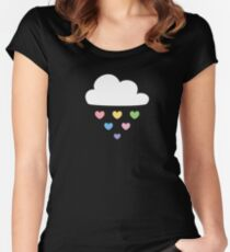 Raining hearts Women's Fitted Scoop T-Shirt