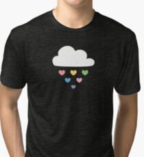 Raining hearts Tri-blend T-Shirt