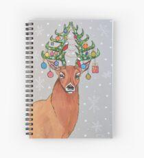 Christmas tree deer Spiral Notebook