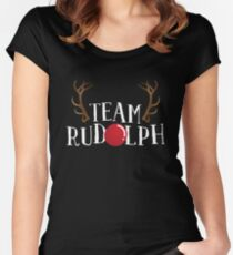 'Team Rudolph' Funny Christmas Rudolf Gift Women's Fitted Scoop T-Shirt