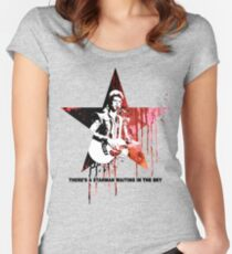 David Bowie - Starman Women's Fitted Scoop T-Shirt