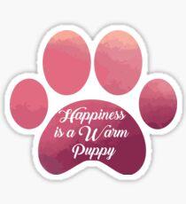 Warm puppy Paw - National Puppy Day Sticker