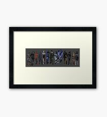 Shepard and the Squad Framed Print