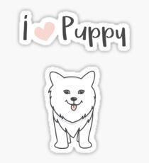 I love puppy - National Puppy Day Sticker